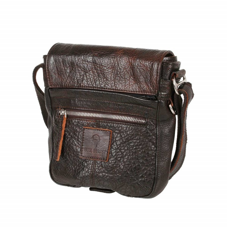 Bull & Hunt Speed Tasche Waxed-Brown, Farbe: braun, Manufacturer: Bull & Hunt, Dimensions (cm): 21.0x23.0x7.0, Image 3 of 4