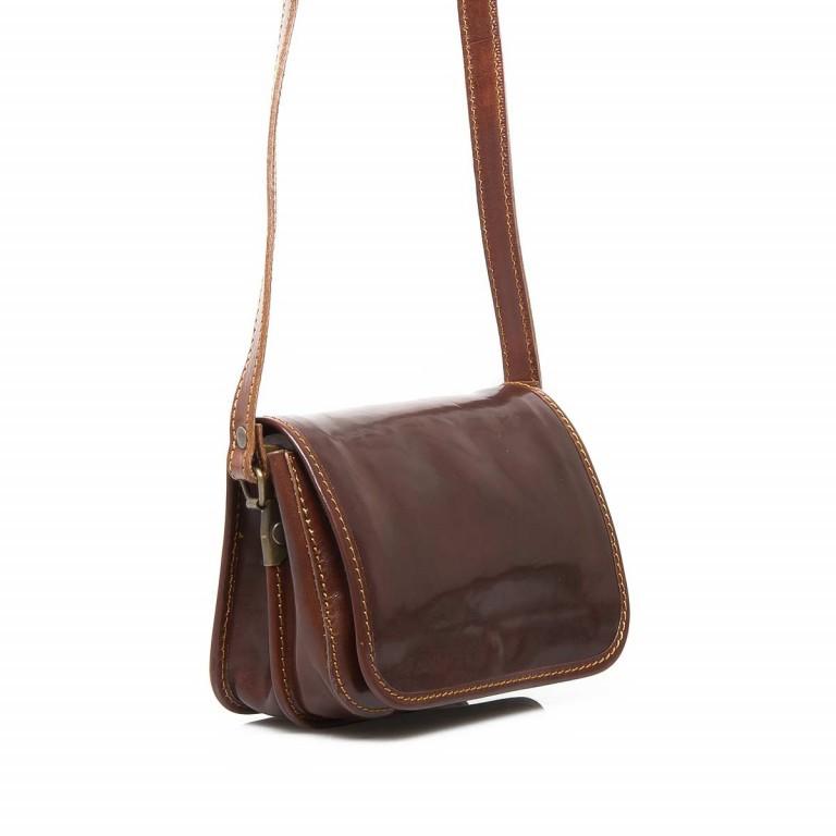 Assima Handtasche Überschlag Vacchettaleder S Cognac, Farbe: cognac, Marke: Assima, Abmessungen in cm: 21.0x15.0x10.0, Bild 2 von 4
