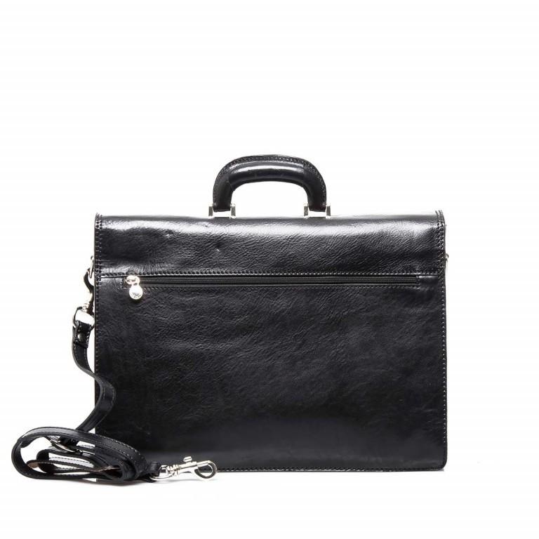 Assima 3-Fächer Aktentasche Vacchettaleder Schwarz, Farbe: schwarz, Marke: Assima, Abmessungen in cm: 42.0x29.0x16.0, Bild 3 von 5