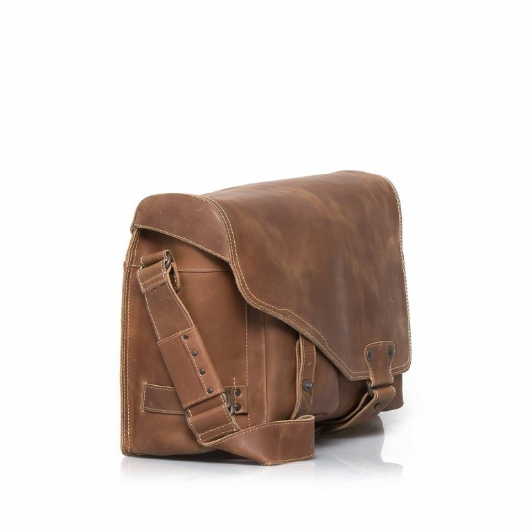 Aunts & Uncles Hunter Big Jordan Leder Vintage Tan, Farbe: cognac, Marke: Aunts & Uncles, Abmessungen in cm: 40.0x30.0x12.0, Bild 4 von 4