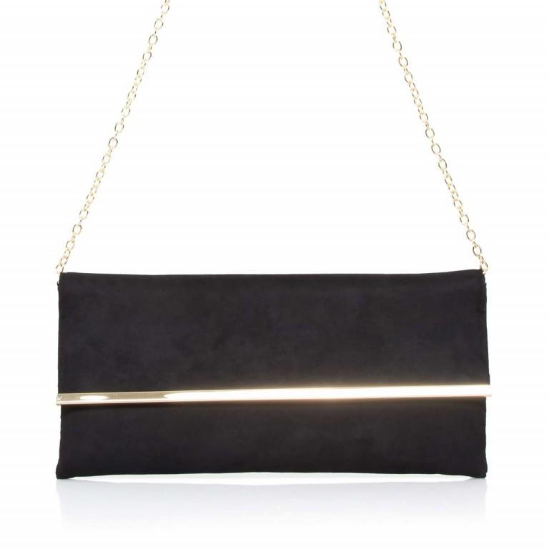 Menbur Clutch Velours Schwarz, Farbe: schwarz, Marke: Menbur, Abmessungen in cm: 31.0x14.0x3.0, Bild 1 von 4