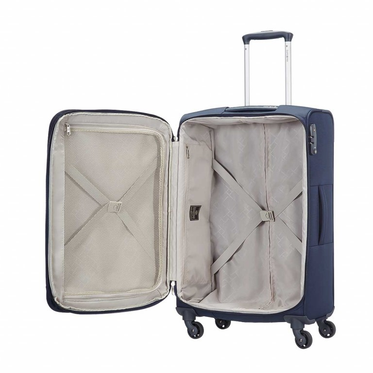 Samsonite Base Hits 59145 Spinner 77 Expandable Navy Blue, Farbe: blau/petrol, Marke: Samsonite, Bild 2 von 5