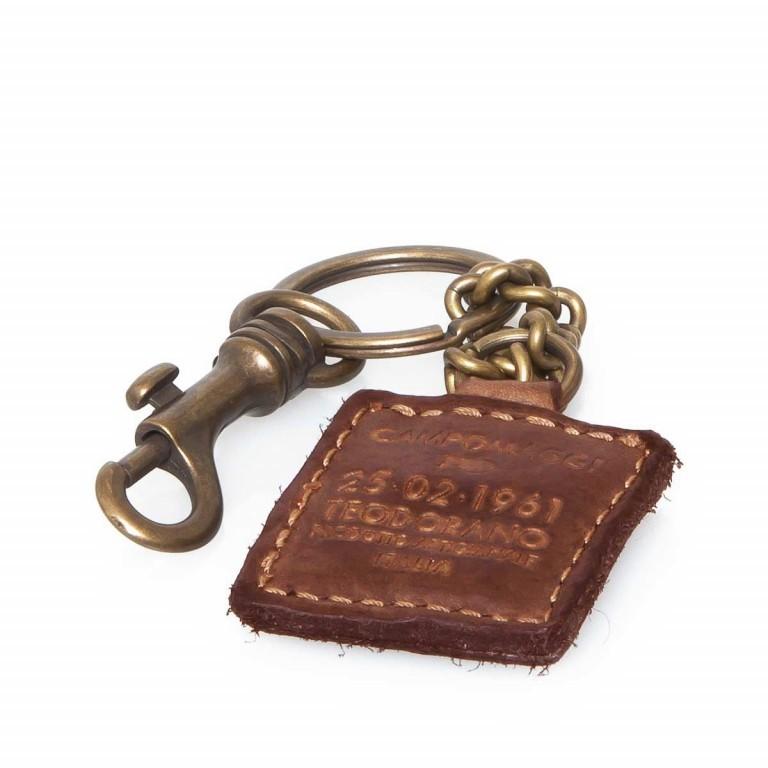 Campomaggi Schlüsselanhänger Leder Cognac PC012, Farbe: cognac, Marke: Campomaggi, Abmessungen in cm: 4.0x4.0, Bild 2 von 2
