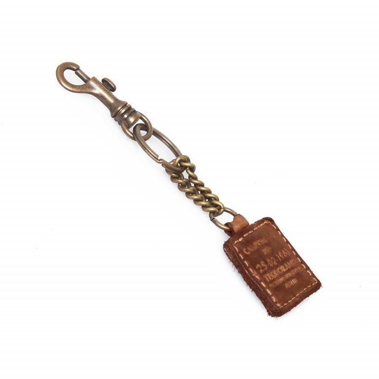 Campomaggi Schlüsselanhänger Leder Cognac PC012, Farbe: cognac, Marke: Campomaggi, Abmessungen in cm: 4.0x4.0, Bild 1 von 2