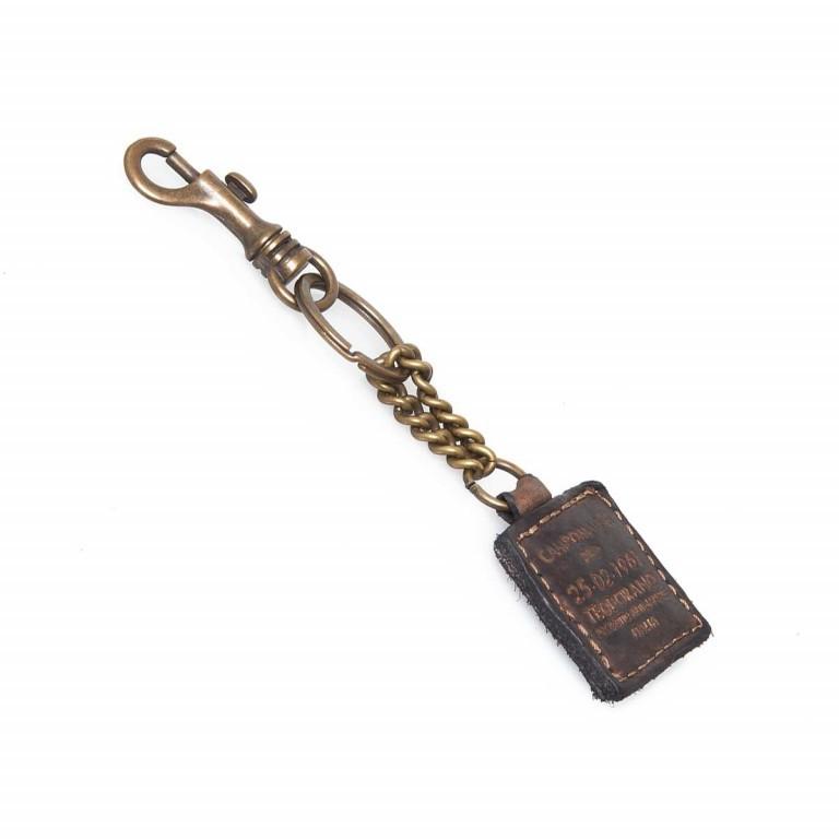 Campomaggi Schlüsselanhänger Leder Grau PC012, Farbe: grau, Marke: Campomaggi, Abmessungen in cm: 4.0x4.0, Bild 1 von 2