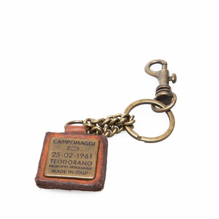 Campomaggi Schlüsselanhänger Leder Cognac PC011, Farbe: cognac, Marke: Campomaggi, Abmessungen in cm: 4.0x4.0, Bild 2 von 3