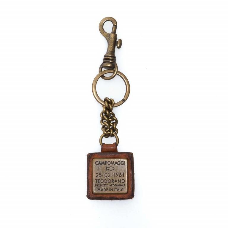 Campomaggi Schlüsselanhänger Leder Cognac PC011, Farbe: cognac, Marke: Campomaggi, Abmessungen in cm: 4.0x4.0, Bild 1 von 3