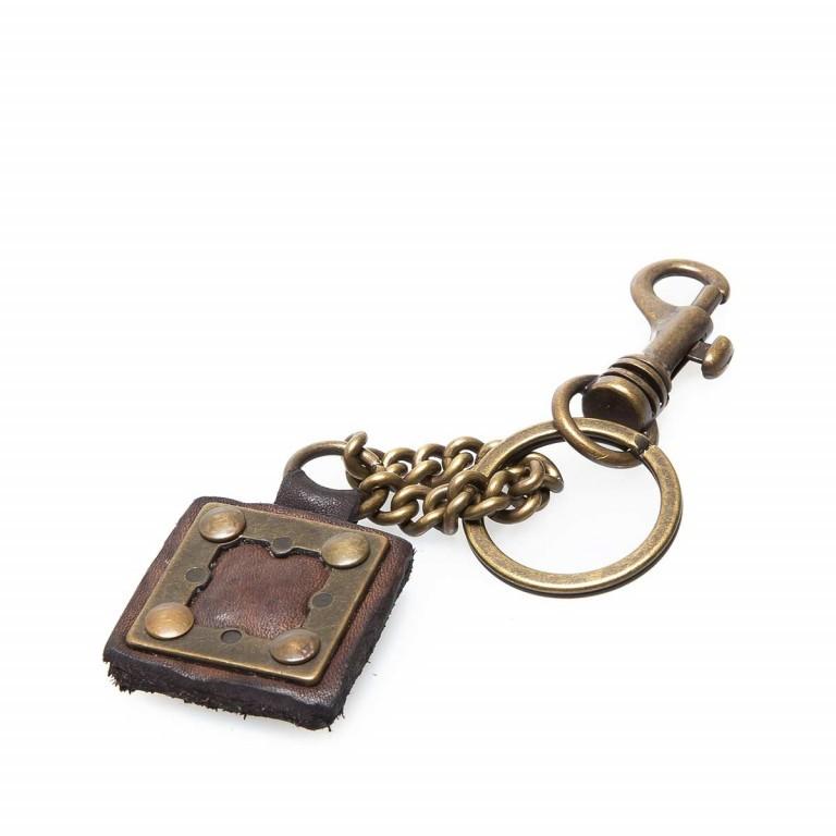 Campomaggi Schlüsselanhänger Leder Grau PC011, Farbe: grau, Marke: Campomaggi, Abmessungen in cm: 4.0x4.0, Bild 3 von 3