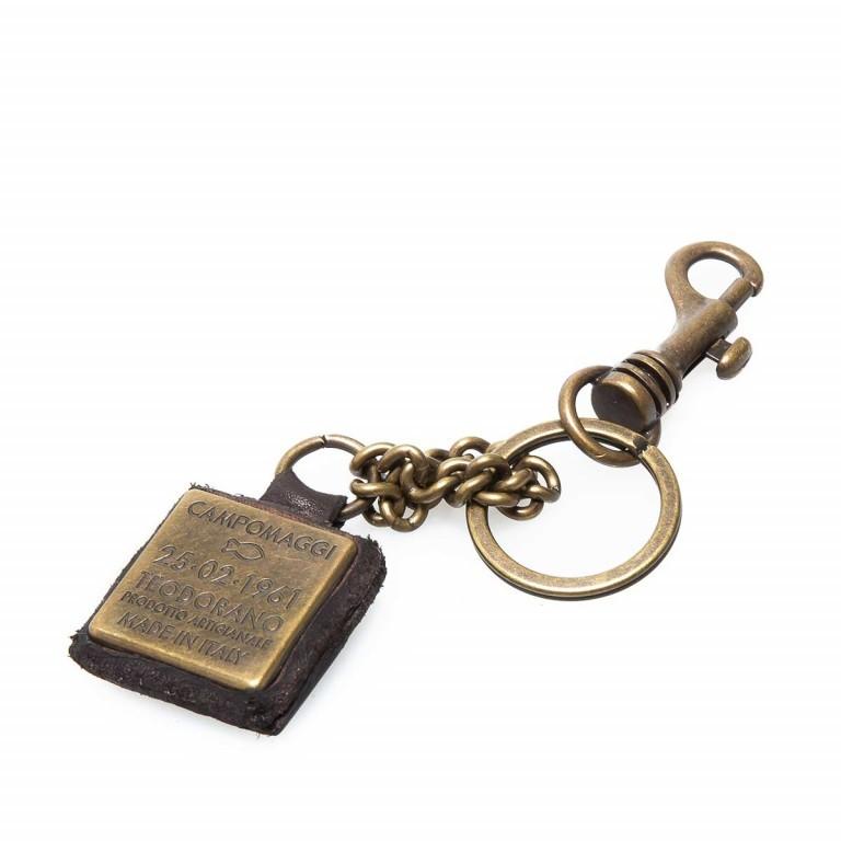 Campomaggi Schlüsselanhänger Leder Grau PC011, Farbe: grau, Marke: Campomaggi, Abmessungen in cm: 4.0x4.0, Bild 2 von 3
