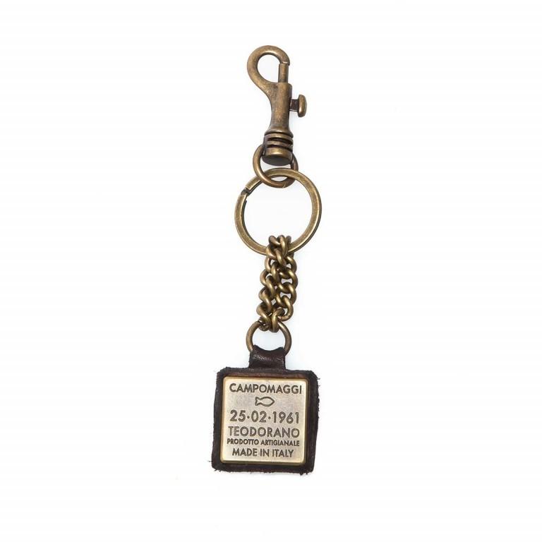 Campomaggi Schlüsselanhänger Leder Grau PC011, Farbe: grau, Marke: Campomaggi, Abmessungen in cm: 4.0x4.0, Bild 1 von 3