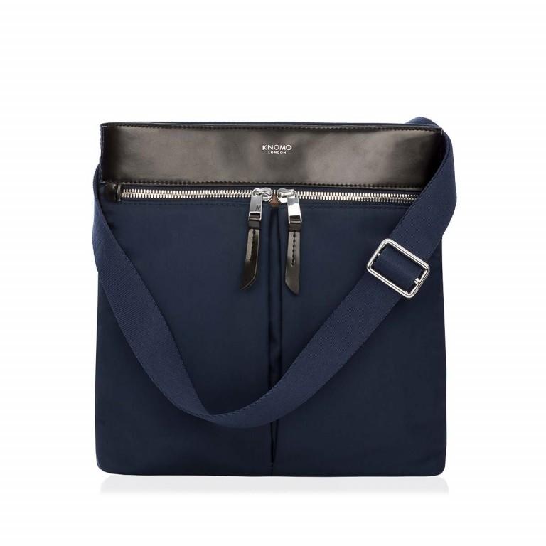 Knomo Umhängetasche Mayfair Tilney Blau, Farbe: blau/petrol, Marke: Knomo, Abmessungen in cm: 21.0x24.0x2.0, Bild 1 von 3