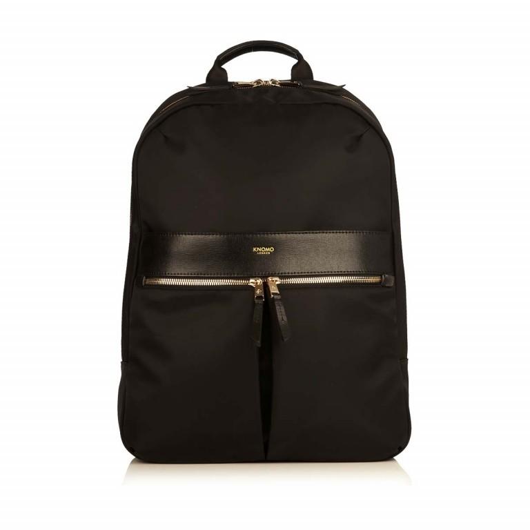 Knomo Laptop-Rucksack Mayfair Beauchamp Schwarz, Farbe: schwarz, Marke: Knomo, Abmessungen in cm: 29.0x40.0x10.0, Bild 1 von 4