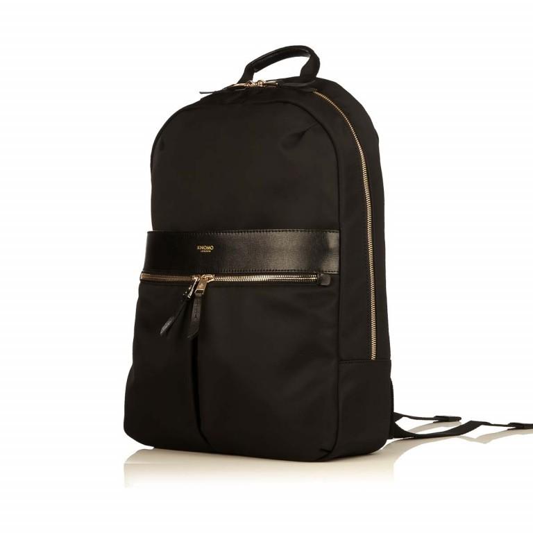 Knomo Laptop-Rucksack Mayfair Beauchamp Schwarz, Farbe: schwarz, Marke: Knomo, Abmessungen in cm: 29.0x40.0x10.0, Bild 2 von 4