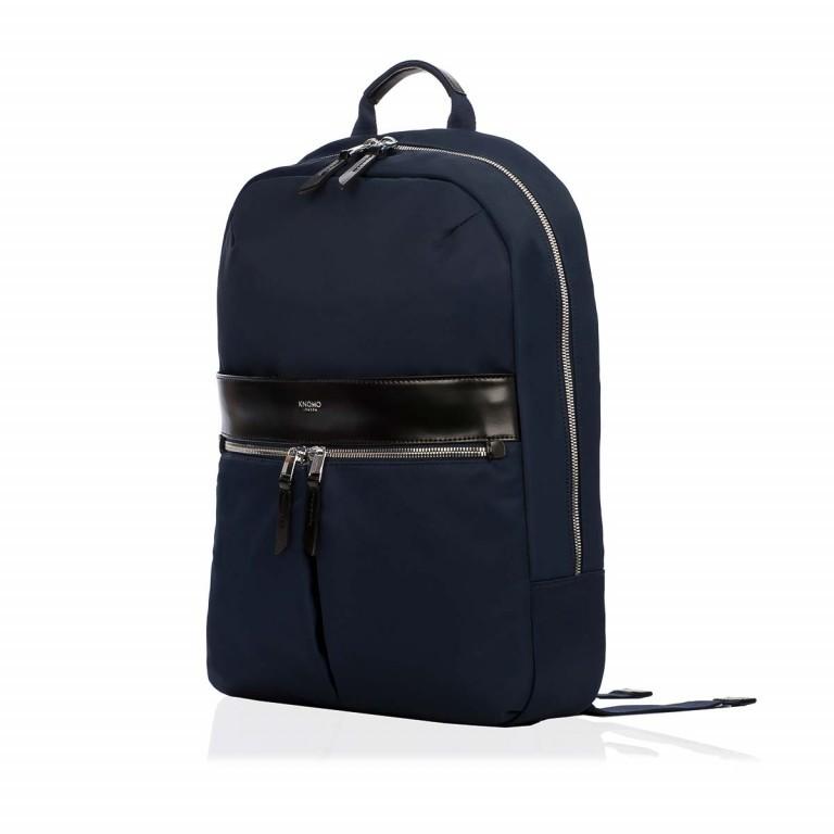 Knomo Laptop-Rucksack Mayfair Beauchamp Blau, Farbe: blau/petrol, Marke: Knomo, Abmessungen in cm: 29.0x40.0x10.0, Bild 3 von 4