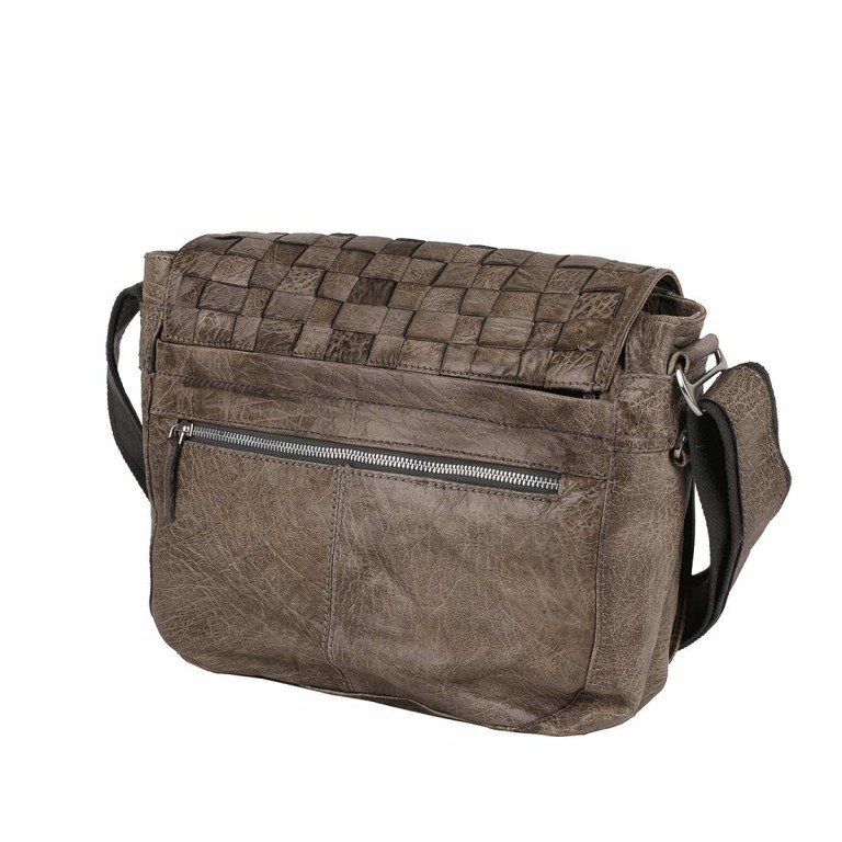 Bull & Hunt Twenty Five Kuriertasche Wafer Washed Grey, Farbe: taupe/khaki, Marke: Bull & Hunt, Abmessungen in cm: 25.0x31.0x11.0, Bild 2 von 4