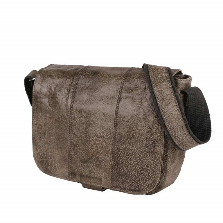 Bull & Hunt Twenty Five Kuriertasche Wafer Washed Grey, Farbe: taupe/khaki, Marke: Bull & Hunt, Abmessungen in cm: 25.0x31.0x11.0, Bild 3 von 4