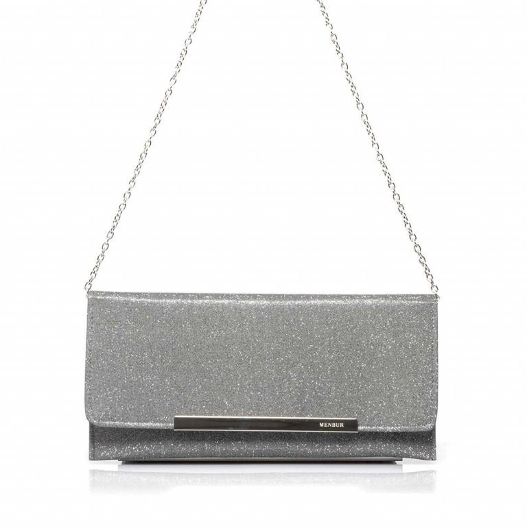 Menbur Clutch mit Glitzereffekt Grey, Marke: Menbur, Abmessungen in cm: 30.5x14.5x0.5, Bild 1 von 2