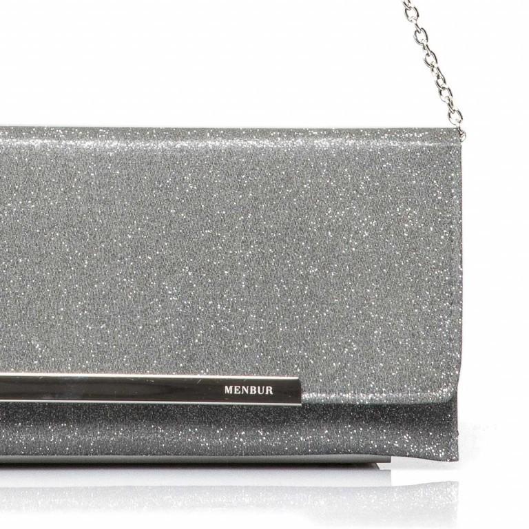 Menbur Clutch mit Glitzereffekt Grey, Marke: Menbur, Abmessungen in cm: 30.5x14.5x0.5, Bild 2 von 2