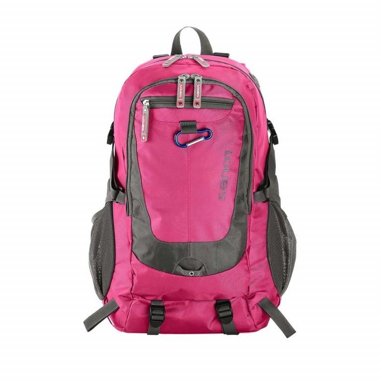 Loubs Rucksack Mountain Pink, Farbe: rosa/pink, Marke: Loubs, Abmessungen in cm: 28.0x46.0x21.0, Bild 1 von 3