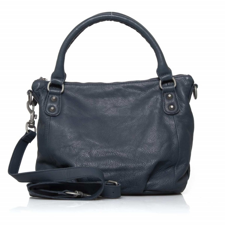 LIEBESKIND Vintage Gina 6 Shopper Dark Blue, Farbe: blau/petrol, Manufacturer: Liebeskind Berlin, EAN: 4051436837537, Dimensions (cm): 33.0x25.0x12.0, Image 4 of 4