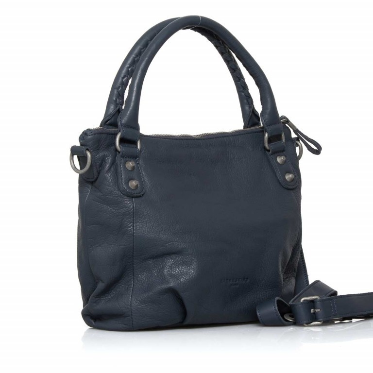 LIEBESKIND Vintage Gina 6 Shopper Dark Blue, Farbe: blau/petrol, Manufacturer: Liebeskind Berlin, EAN: 4051436837537, Dimensions (cm): 33.0x25.0x12.0, Image 2 of 4