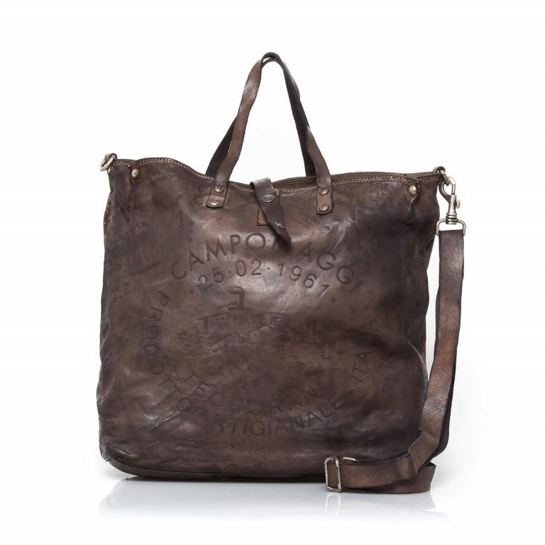 Campomaggi Shopper Leder 40cm C2068-VL Grau, Farbe: grau, Marke: Campomaggi, Abmessungen in cm: 40.0x37.0x12.0, Bild 1 von 4