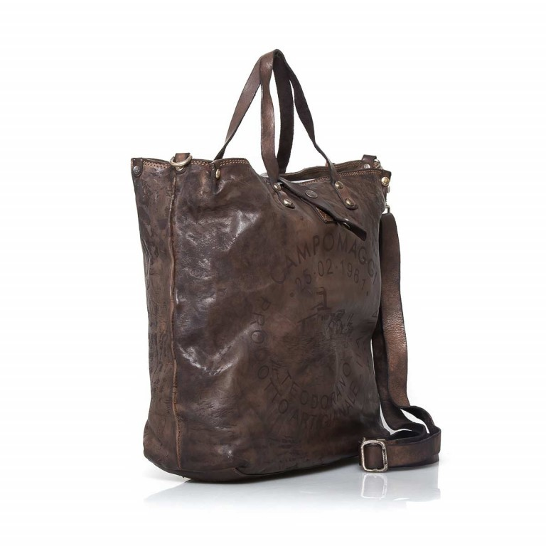 Campomaggi Shopper Leder 40cm C2068-VL Grau, Farbe: grau, Marke: Campomaggi, Abmessungen in cm: 40.0x37.0x12.0, Bild 2 von 4