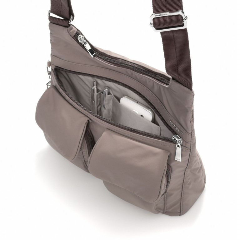 Hedgren Inner City Shoulder Bag Prarie Sepia, Farbe: taupe/khaki, Marke: Hedgren, Abmessungen in cm: 30.0x24.0x10.0, Bild 2 von 3