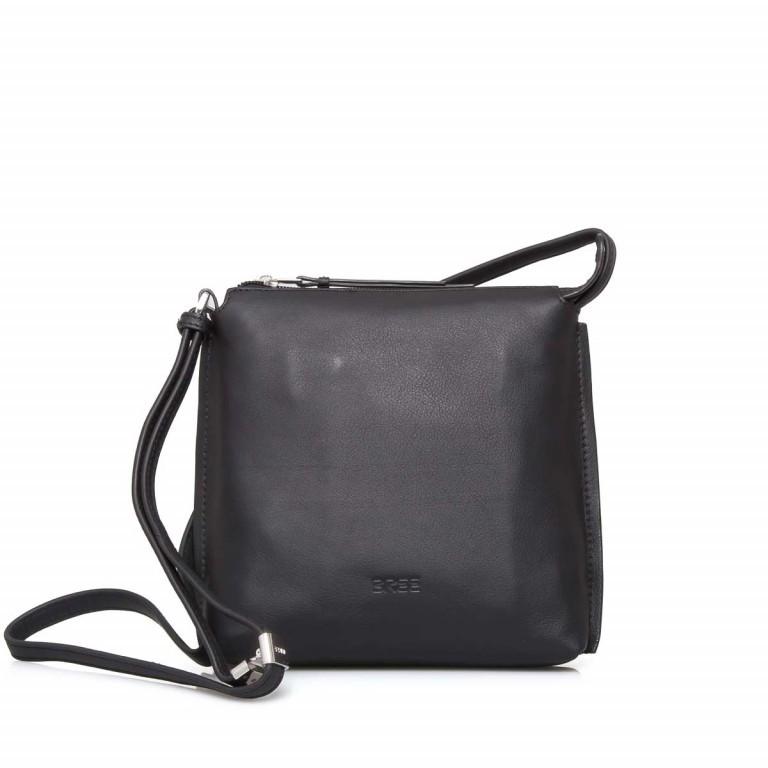BREE Toulouse 1 Cross Shoulderbag S Leder Black Smooth, Farbe: schwarz, Marke: Bree, EAN: 4038671143838, Abmessungen in cm: 19.0x20.0x4.0, Bild 1 von 4