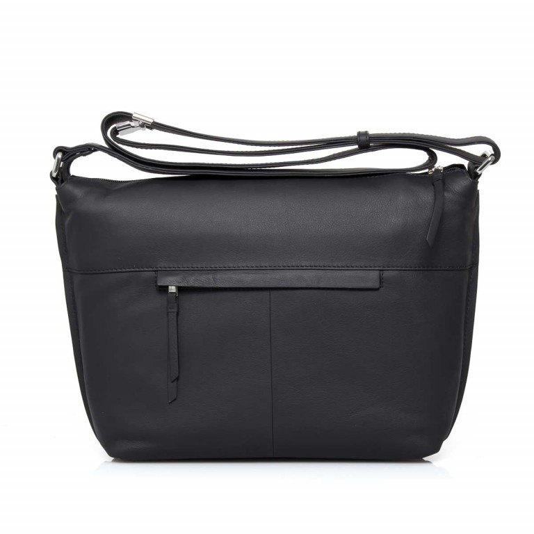 BREE Toulouse 2 Cross Shoulderbag M Leder Black Smooth, Farbe: schwarz, Manufacturer: Bree, EAN: 4038671143845, Dimensions (cm): 38.0x37.0x9.0, Image 2 of 4