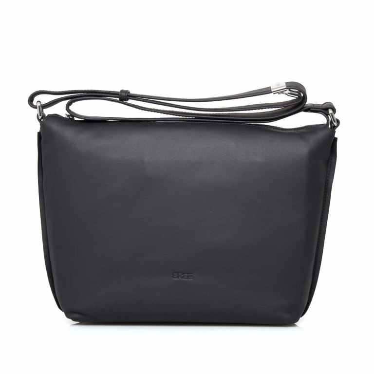 BREE Toulouse 2 Cross Shoulderbag M Leder Black Smooth, Farbe: schwarz, Manufacturer: Bree, EAN: 4038671143845, Dimensions (cm): 38.0x37.0x9.0, Image 1 of 4