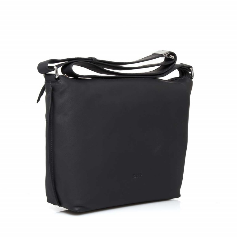 BREE Toulouse 2 Cross Shoulderbag M Leder Black Smooth, Farbe: schwarz, Manufacturer: Bree, EAN: 4038671143845, Dimensions (cm): 38.0x37.0x9.0, Image 3 of 4