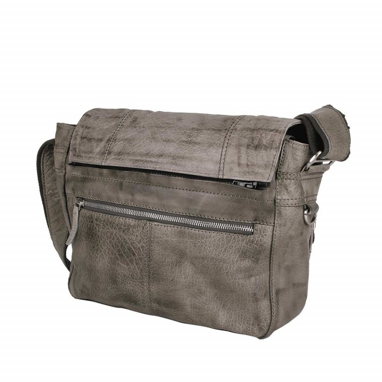 Bull & Hunt Twenty Five Kuriertasche Grey Stripe, Farbe: grau, Manufacturer: Bull & Hunt, Dimensions (cm): 25.0x31.0x11.0, Image 2 of 4