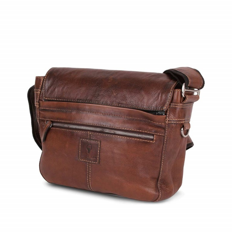 Bull & Hunt Twenty Five Kuriertasche Cross Washed, Farbe: cognac, Manufacturer: Bull & Hunt, Dimensions (cm): 25.0x31.0x11.0, Image 2 of 4