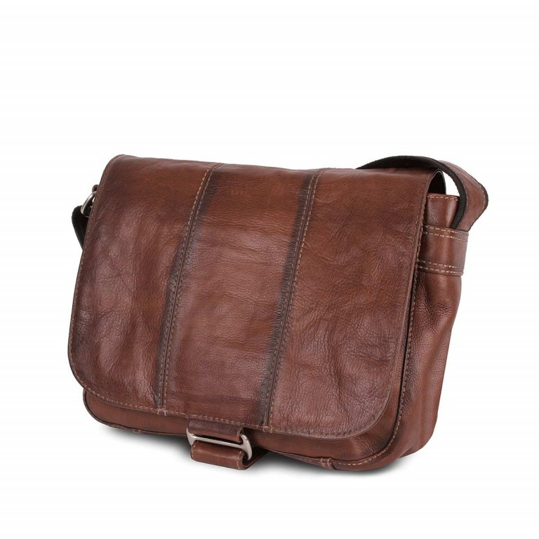 Bull & Hunt Twenty Five Kuriertasche Cross Washed, Farbe: cognac, Manufacturer: Bull & Hunt, Dimensions (cm): 25.0x31.0x11.0, Image 3 of 4