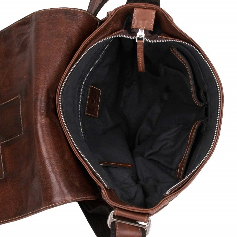Bull & Hunt Twenty Five Kuriertasche Cross Washed, Farbe: cognac, Manufacturer: Bull & Hunt, Dimensions (cm): 25.0x31.0x11.0, Image 4 of 4