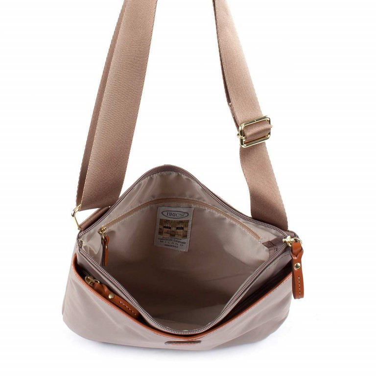 Brics X-Bag Crossbag BXG32733 Taupe, Farbe: taupe/khaki, Marke: Brics, Abmessungen in cm: 27.0x25.0x4.0, Bild 4 von 4