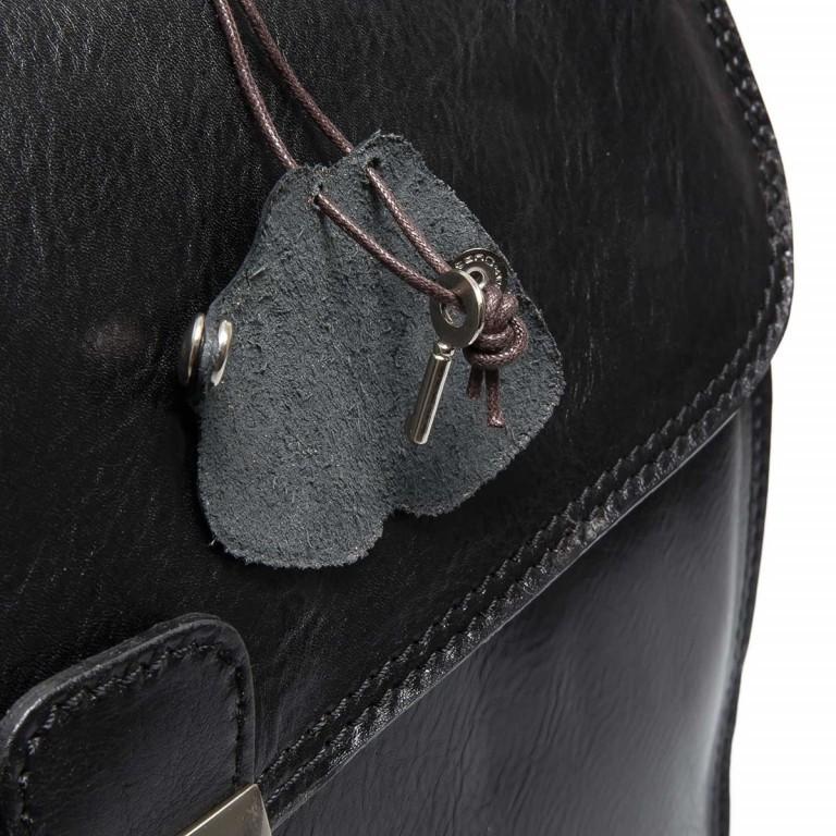 Assima 2-Fächer Aktentasche Vacchettaleder Schwarz, Farbe: schwarz, Marke: Assima, Abmessungen in cm: 42.0x29.0x13.0, Bild 5 von 5