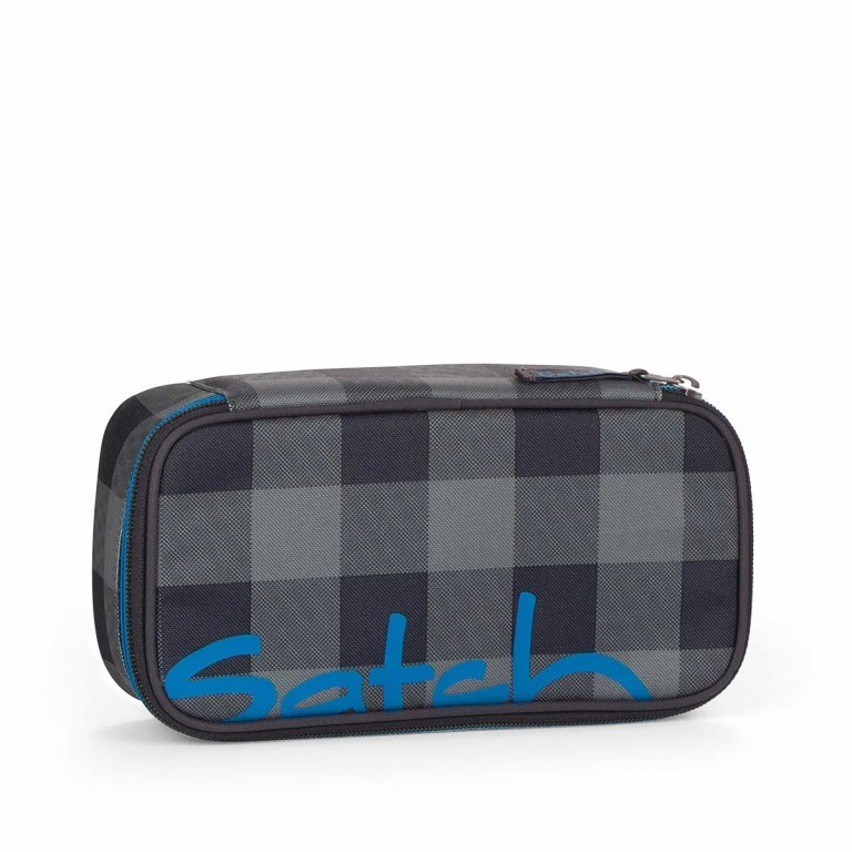 Satch Schlamperbox Checkplaid, Farbe: grau, Manufacturer: Satch, EAN: 4260389762371, Dimensions (cm): 23.0x12.5x7.0, Image 1 of 3