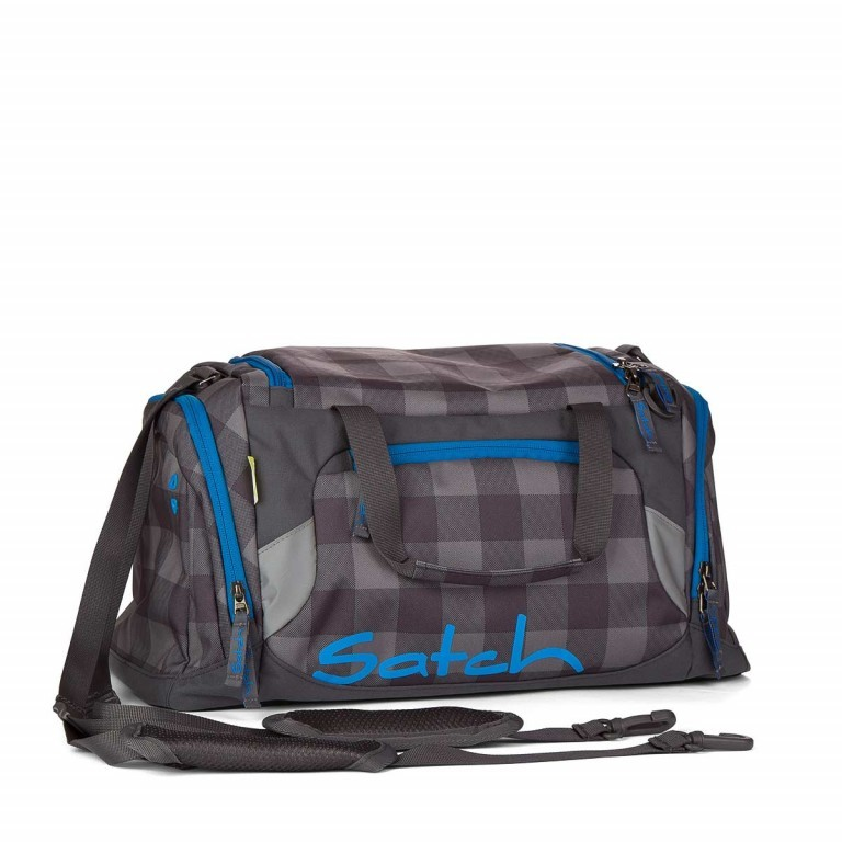 Satch Sporttasche Checkplaid, Farbe: grau, Manufacturer: Satch, EAN: 4260389762531, Dimensions (cm): 50.0x25.0x25.0, Image 1 of 1