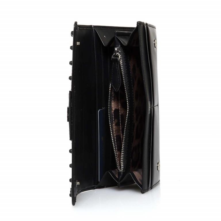 Cavalli Bugatti Obsession-75 Flachbörse Überschlag Leder Black, Farbe: schwarz, Marke: Cavalli, Abmessungen in cm: 19.0x10.0x3.5, Bild 2 von 3
