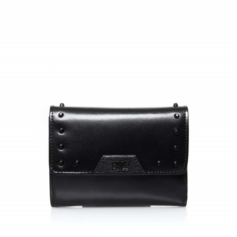 Bugatti Obsession Damenbörse Überschlag Reißverschluss Leder Black, Farbe: schwarz, Marke: Cavalli, Abmessungen in cm: 13.0x9.5x4.5, Bild 1 von 3