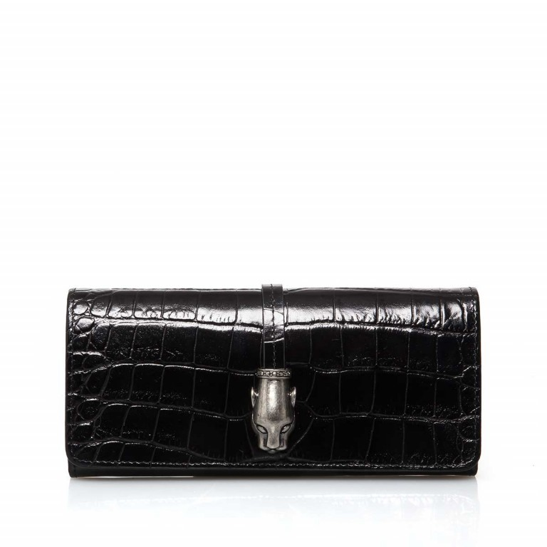 Cavalli Black Daphne 759 Flachbörse Überschlag Leder Black, Farbe: schwarz, Marke: Cavalli, Abmessungen in cm: 19.0x8.5x3.0, Bild 1 von 3