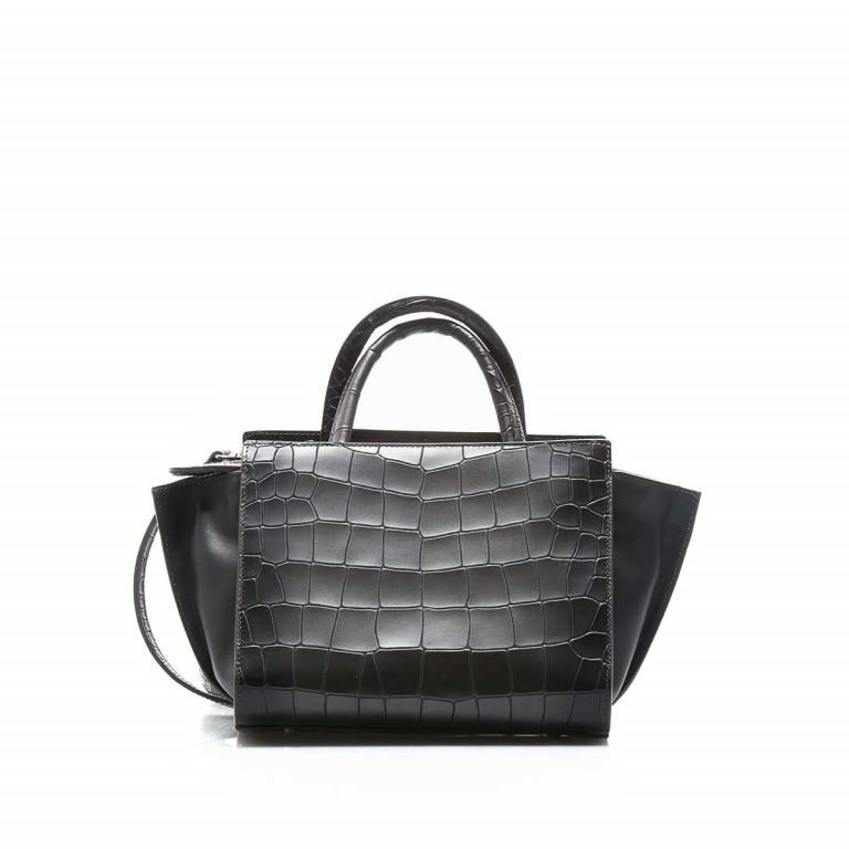 Cavalli Regina-4 Tasche Leder Black, Farbe: anthrazit, Marke: Cavalli, Abmessungen in cm: 23.0x19.0x12.0, Bild 2 von 4