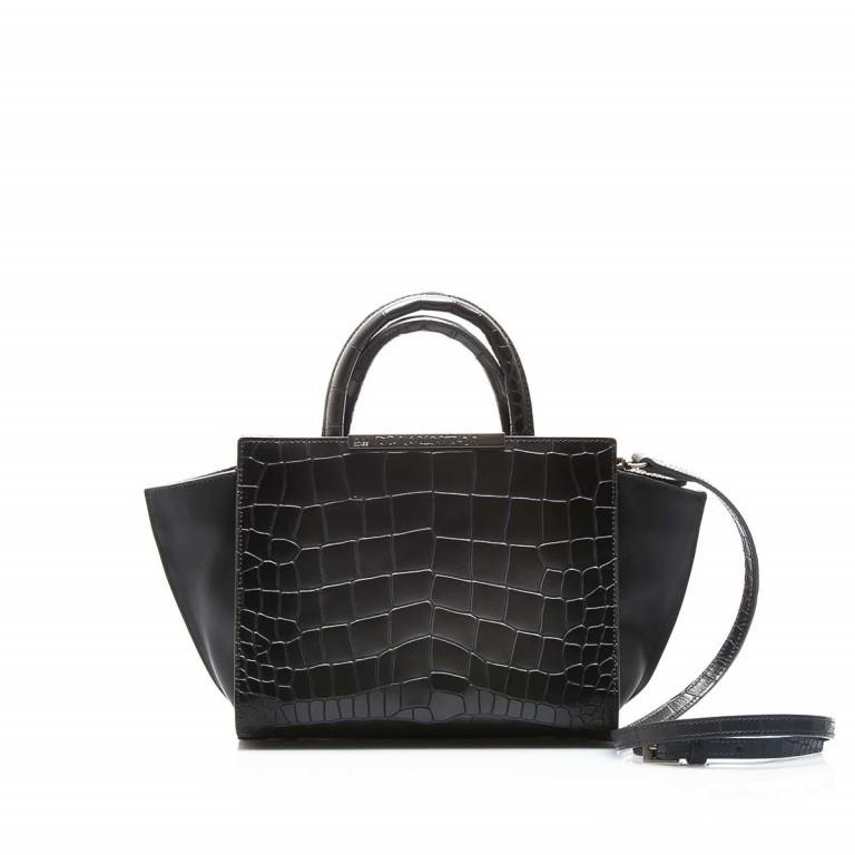 Cavalli Regina-4 Tasche Leder Black, Farbe: anthrazit, Marke: Cavalli, Abmessungen in cm: 23.0x19.0x12.0, Bild 1 von 4