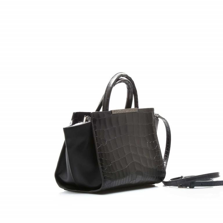 Cavalli Regina-4 Tasche Leder Black, Farbe: anthrazit, Marke: Cavalli, Abmessungen in cm: 23.0x19.0x12.0, Bild 3 von 4