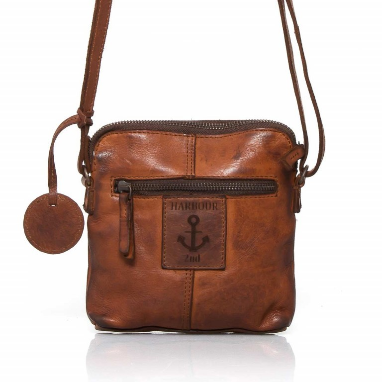 HARBOUR2nd Crossbag Selma Cognac, Farbe: cognac, Manufacturer: Harbour 2nd, Dimensions (cm): 19.0x20.0x3.0, Image 2 of 3