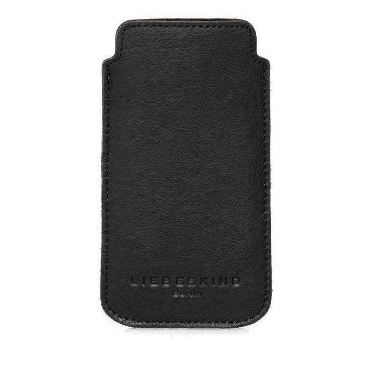 LIEBESKIND Vintage Iphone 6/7 Handyhülle Black, Farbe: schwarz, Marke: Liebeskind Berlin, EAN: 4051436741766, Abmessungen in cm: 14.5x7.8x0.5, Bild 1 von 1