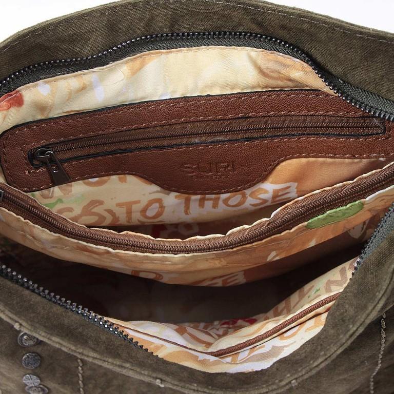 SURI FREY Nelly Tasche Canvas Khaki, Farbe: taupe/khaki, Marke: Suri Frey, Abmessungen in cm: 27.0x27.0x8.0, Bild 6 von 7