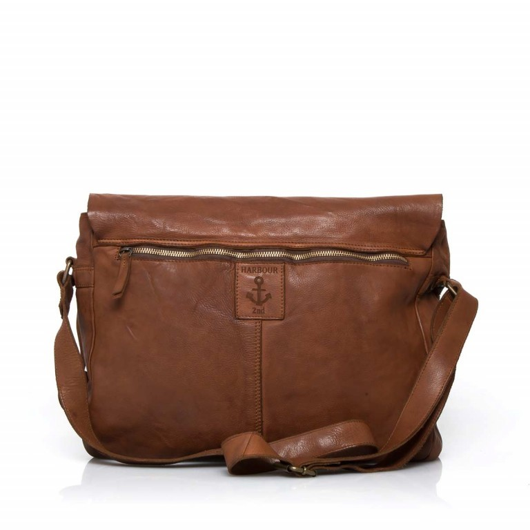 HARBOUR2nd Messenger Bag Yamal Cognac, Farbe: cognac, Marke: Harbour 2nd, Abmessungen in cm: 37.0x30.0x9.0, Bild 4 von 4